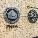 Seal on the wall of FHFA building.