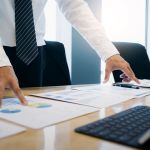 Businessman planning and analyst investment marketing data.